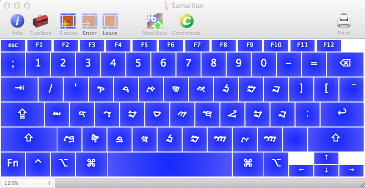 Samaritan keyboard for OS X